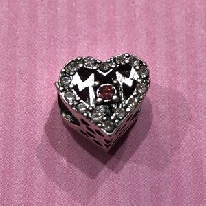 Jewelry - MOM heart silver charm/spacer bead